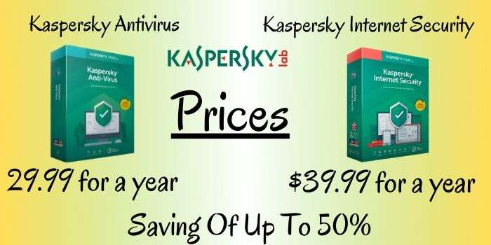 Kaspersky Antivirus & Internet Security Prices