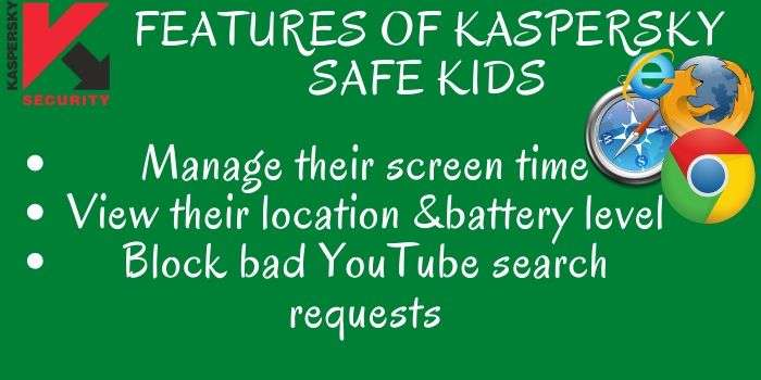 Kaspersky Safe Kids Features